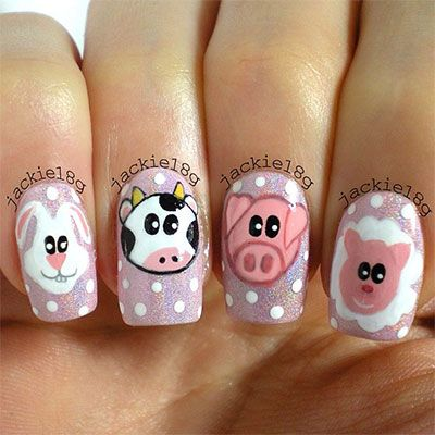Cute Zoo Farm Animals Nail Art Designs Ideas 2013 2014 7 Cute Zoo & Farm Animals Nail Art Designs & Ideas 2013/ 2014