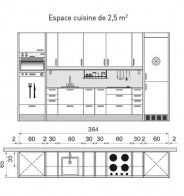 Plan de cuisine en U avec comptoir pour les repas - Marie Claire Maison