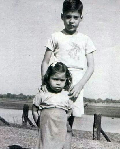 Freddie Mercury with sister Kashmira