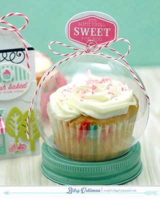 Cupcake Storage Using A Clear Ornament And Mason Jar Lid