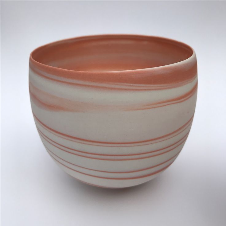 Wheelthrown porcelain agateware bowl