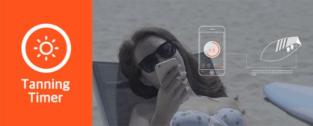 tanning timer.  #SFIT #indiegogo #TANNING #SKINCARE #FITNESS #wearabledevice