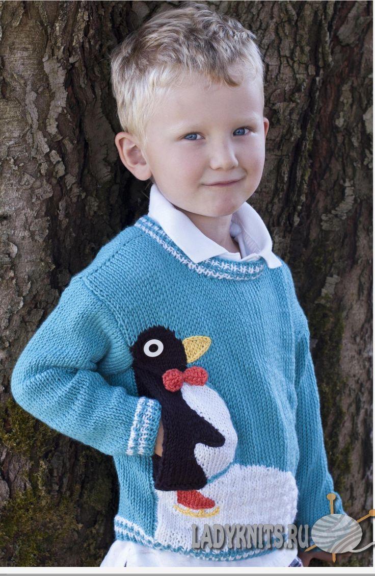 пуловер спицами для мальчика