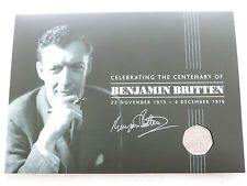 2013 Royal Mint Benjamin Britten 100th Anniversary 50p Fifty Pence Coin Folder