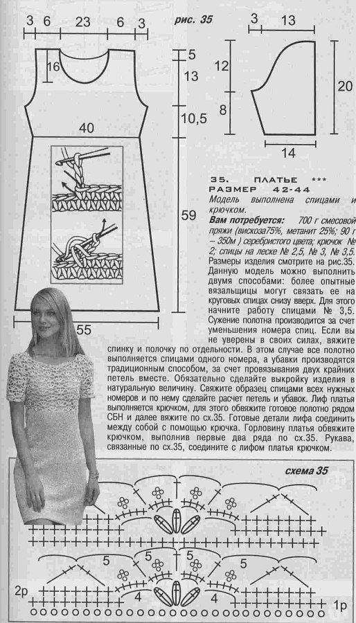 Платье на лямочках с ажурным низом Ажурное платье из кружевных полос Платье с протянутыми цветными нитями Черное ажурное платье с лифом из мотивов Ажурное черное платье мотивами Мини-платье с ажурным лифом Ажурное белое платье тремя узорами Платье из кружевных полос Платье крючком с ажурными клиньями Расклешенное ажурное платье-сарафан