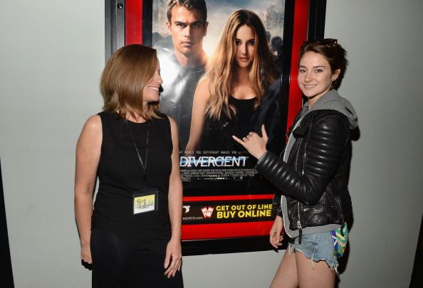 Lori Woodley and daughter Shailene Woodley attend Summit Entertainment And Allittakes.Org's Private Screening Of 'Divergent' at Muvico Theaters Thousand Oaks 14 on March 17, 2014 in Thousand Oaks, California