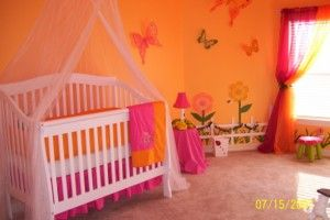 Orange baby nurseries--   That's my kind of room !!!