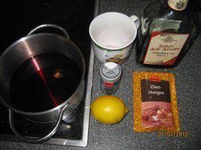 Das perfekte Glühwein mit Amaretto...so wie ich ihn mag und mache-Rezept mit einfacher Schritt-für-Schritt-Anleitung: Abrieb von der Zitrone und der…