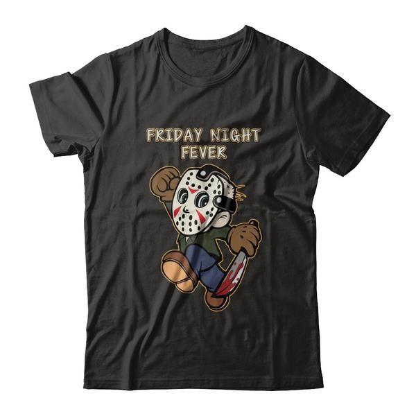 Friday Night Fever Funny Halloween Friday 13th T Shirt