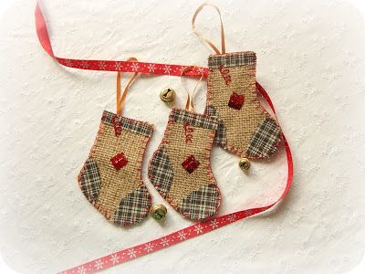 In & around my house : Burlap christmas crafts !!!!!