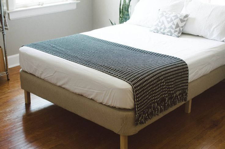 add feet to upholstered box spring