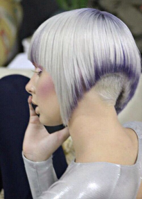 Purple and silver bob undercut | Hair | Pinterest | Bobs ...