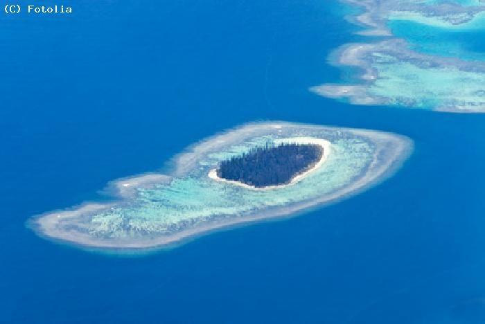 Lagon vu du ciel - Nouvelle Caledonie