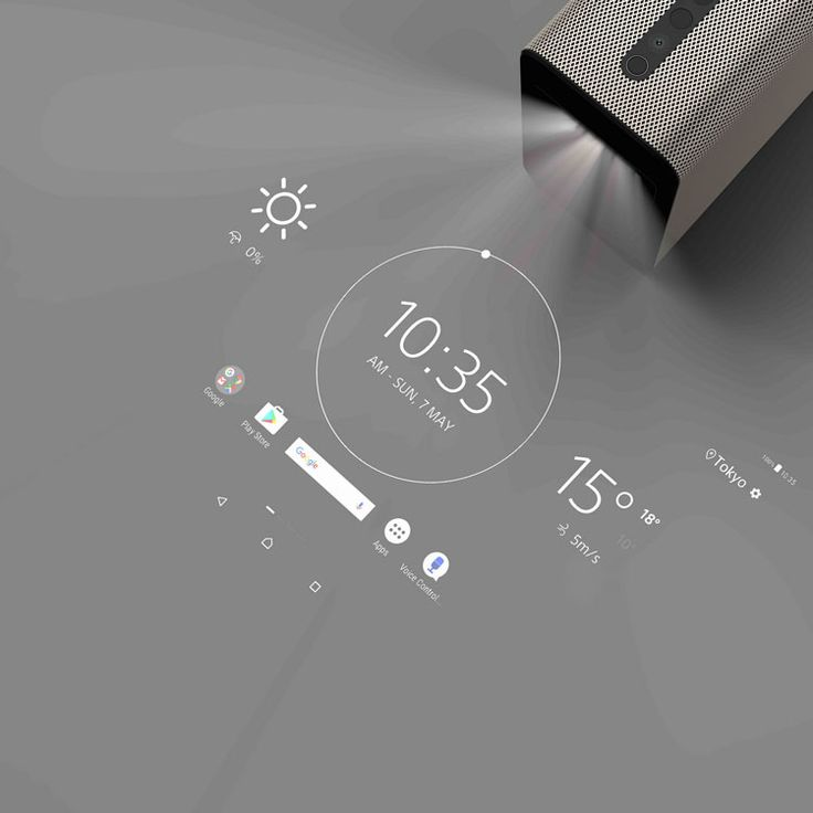 the xperia touch uses sonys sxrd projection display technology to allow users to play games or