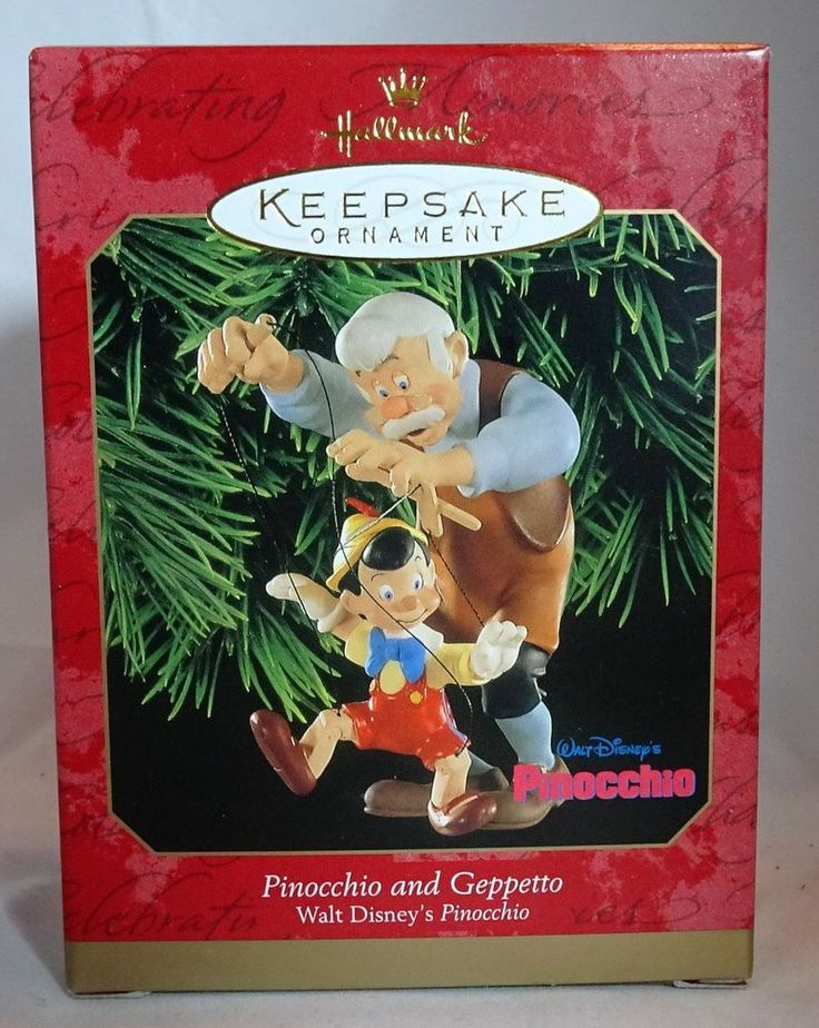 Hallmark Keepsake 1999 Disney Pinocchio And Geppetto Christmas Ornament