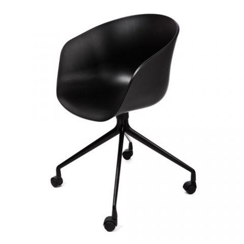 DESIGNDELICATESSEN - HAY – About a Chair AAC14- skaldstol m/hjul - kontor stol