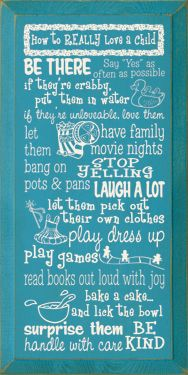 Some fun hearted ideas for loving your children.