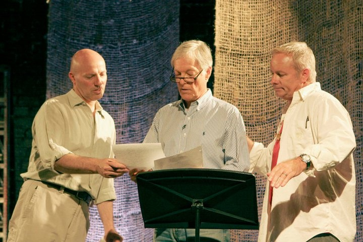 Peter Woodward, Richard Chamberlain rehearse with Director Alex Hyde-White.