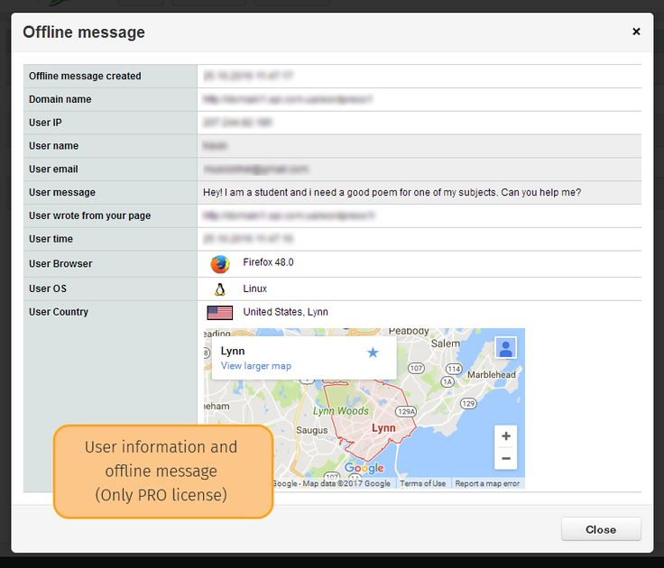 View offline message in LIVE CHAT and user information  Install LIVE CHAT: https://wordpress.org/plugins/chats/ www.wp-chat.com  #chat  #online_chat #offline_chat #live_chat #web_chat #webshop_chat #offline_messages #realtime_chat #online_messages #live_support #live_chat-PRO #wp_chat #get_chat #chat_with_website_visitors #chatbox #chat_window