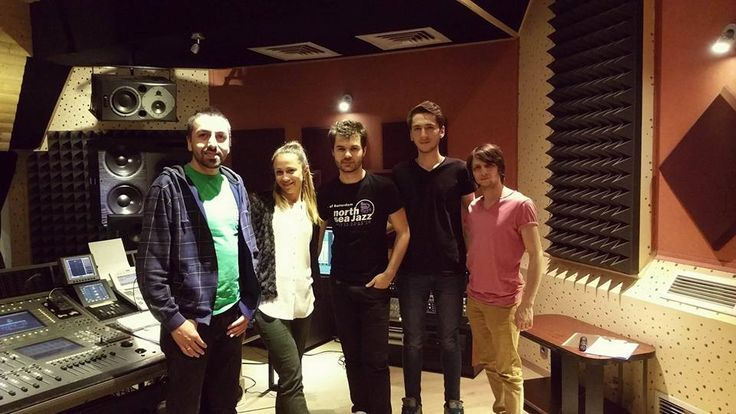 Jazz album time! Viorica Pintilie and The Band with our sound engineer Alex.