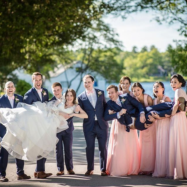 Don't dwell on those who let you down, cherish those who hold you up. This bridal party was a blast!