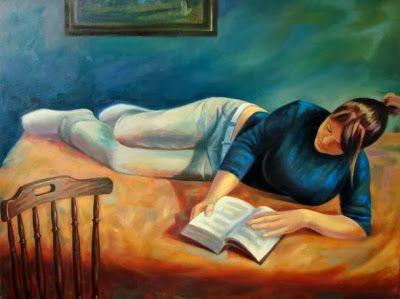 Olvasó lány by Horváth Balázs born in Hungary