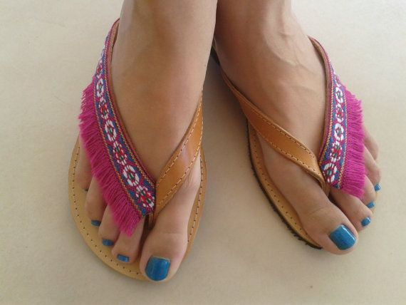 SALES  Bohemian Shoes. Fringe leather sandals. by BeSerendipity