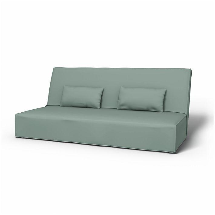 Beddinge, Sofabezüge, Bettsofa, Regular Fit bodenlang diesen Stoff anwenden Panama Cotton Mineral Blue