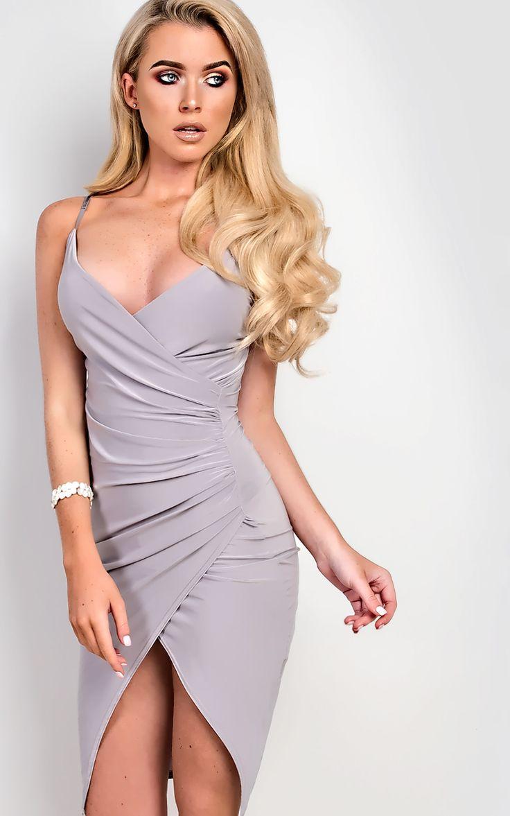 Bella Gathered Bodycon Dress  at ikrush
