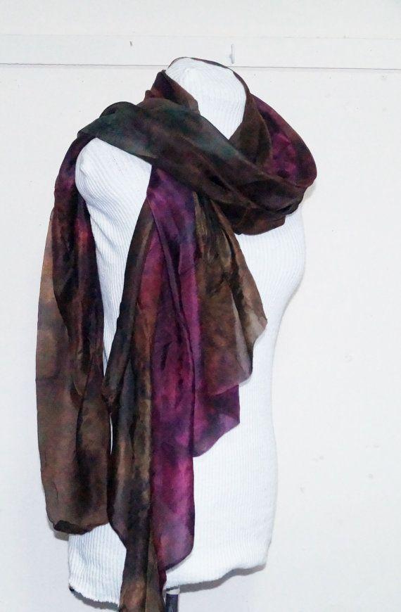 multi colour slik scarf by Memzwear on Etsy, £20.20
