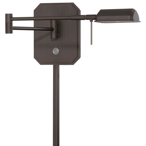 Copper Bronze 14-Inch Patina One-Light LED Swing Arm Lamp