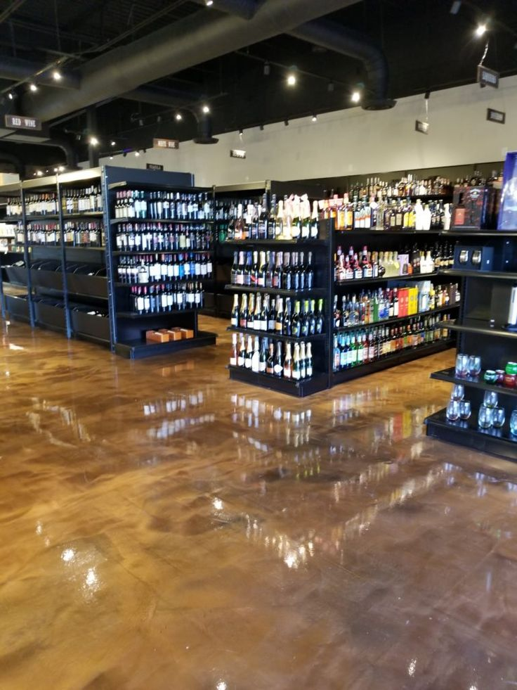 Metallic Epoxy Floors | Slip Free Systems Floor Coatings  This floor coating is at Pearland Fine Wine and Spirits.