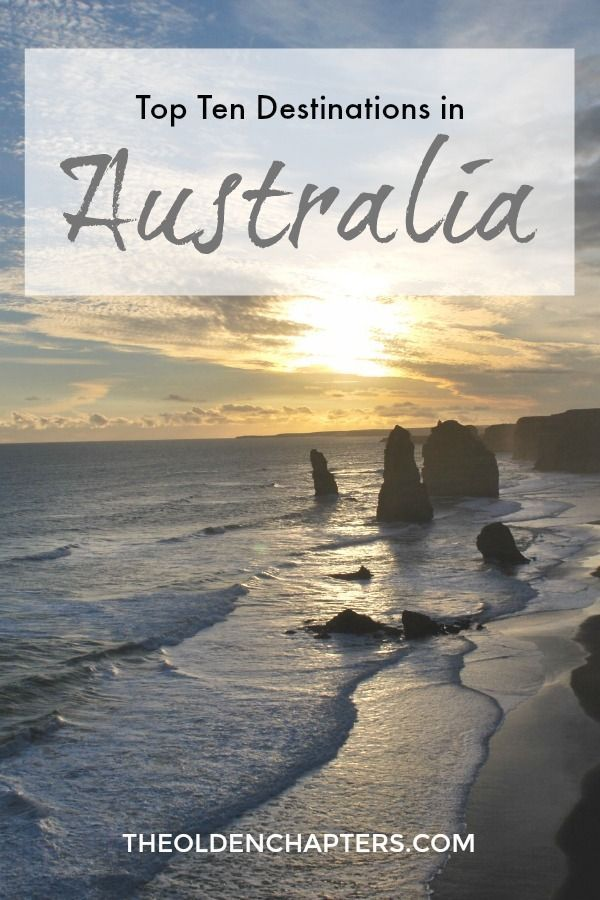 The top ten destinations to visit when traveling around Australia. Pin for later