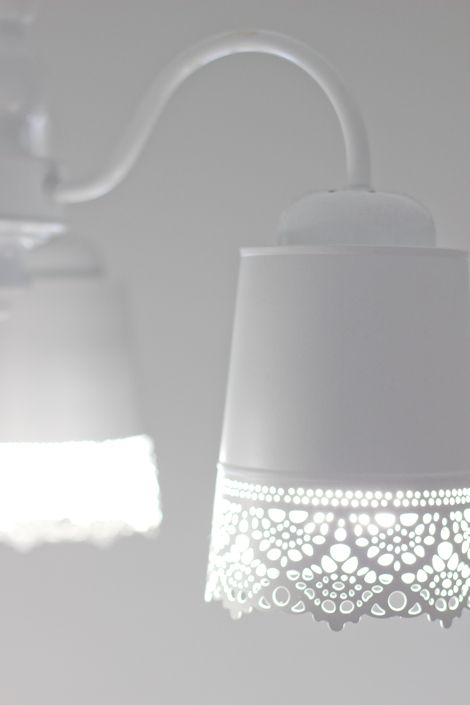 lamp make over- love this girl's blog, great DIY and design ideas from an industrial design student