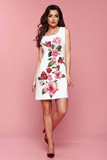 Rochie scurta cu imprimeuri florale1