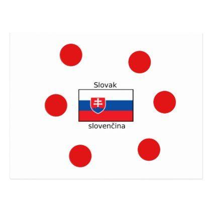 Slovak Language And Slovakia Flag Design Postcard - postcard post card postcards unique diy cyo customize personalize
