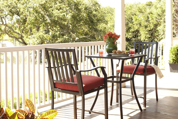 3 Piece Balcony Height Bistro, Hidden River Collection | Patio Paradise |  Pinterest | Balconies, Yards And Patios
