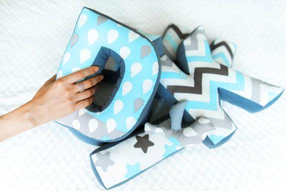 Personalised Letter Cushion (Alphabet Letter Pillow, Initial Letter Pillow, Soft Letter, Fabric Letter, Custom boy pillow, Custom cushion)