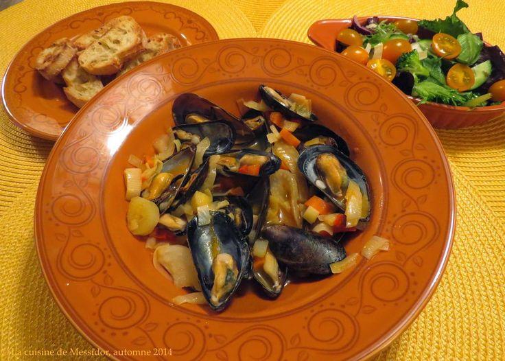 La cuisine de Messidor: Moules aux légumes et au safran