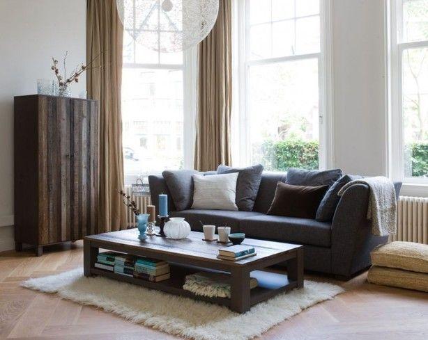 Meer dan 1000 idee n over bruine bank inrichting op pinterest woonkamer bruin gezellige - Leer capitonne ...