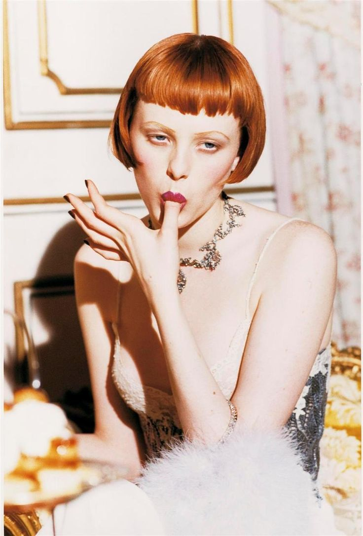 Karen Elson by Ellen von Unwerth for Vogue 1998