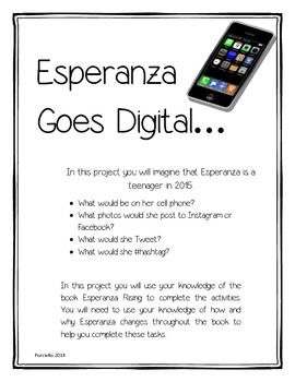 Printables Esperanza Rising Worksheets 1000 ideas about esperanza rising on pinterest students main goes digital character change project