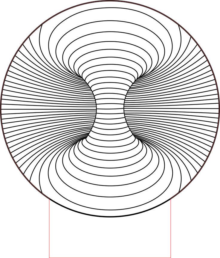 Double hole 3d illusion Led lamp vector file