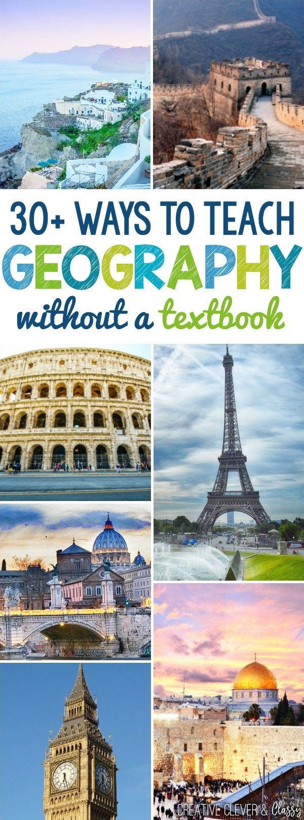 Here are 30+ ways to teach geography, ranging from geography games to the layers of the earth with cake, without a textbook!