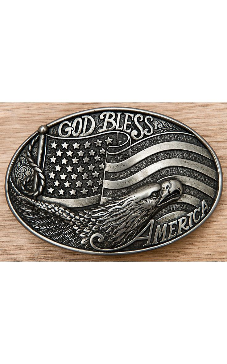 M&F Western Products Inc. Nocona God Bless America Buckle 37016   Cavender's
