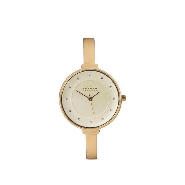 Skagen watch in gold from #WatchStation at #DesignerOutletParndorf