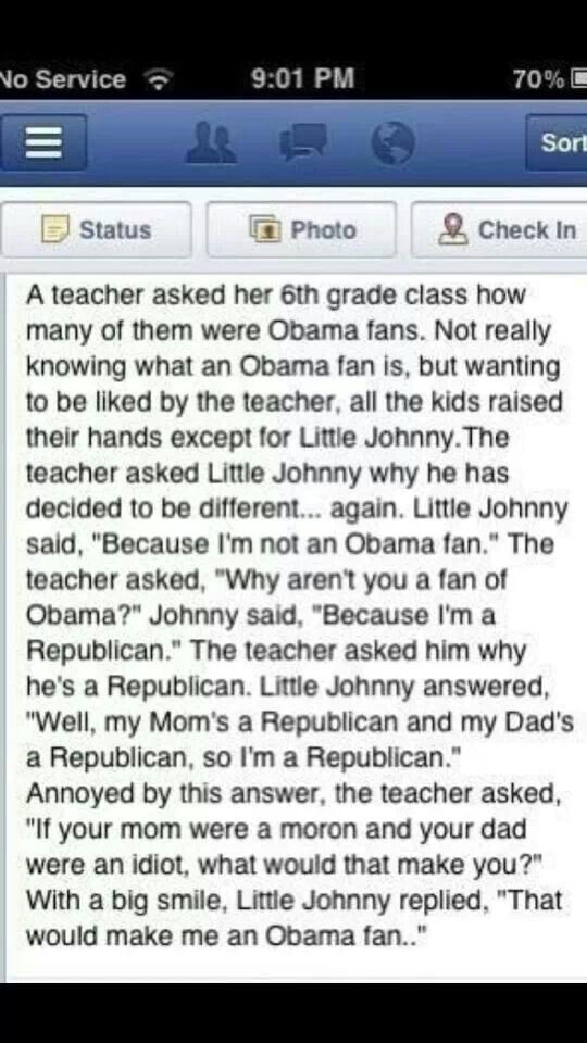 Republican and proud!!! This just made my day!
