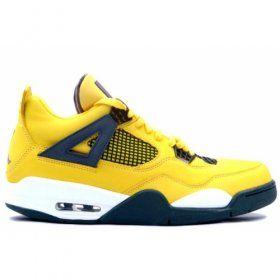 Air Jordans Retro 4 Lightning Tour Yellow Dark Blue 314257-702   $84.00 With 47% Off www.genomenglish.com/