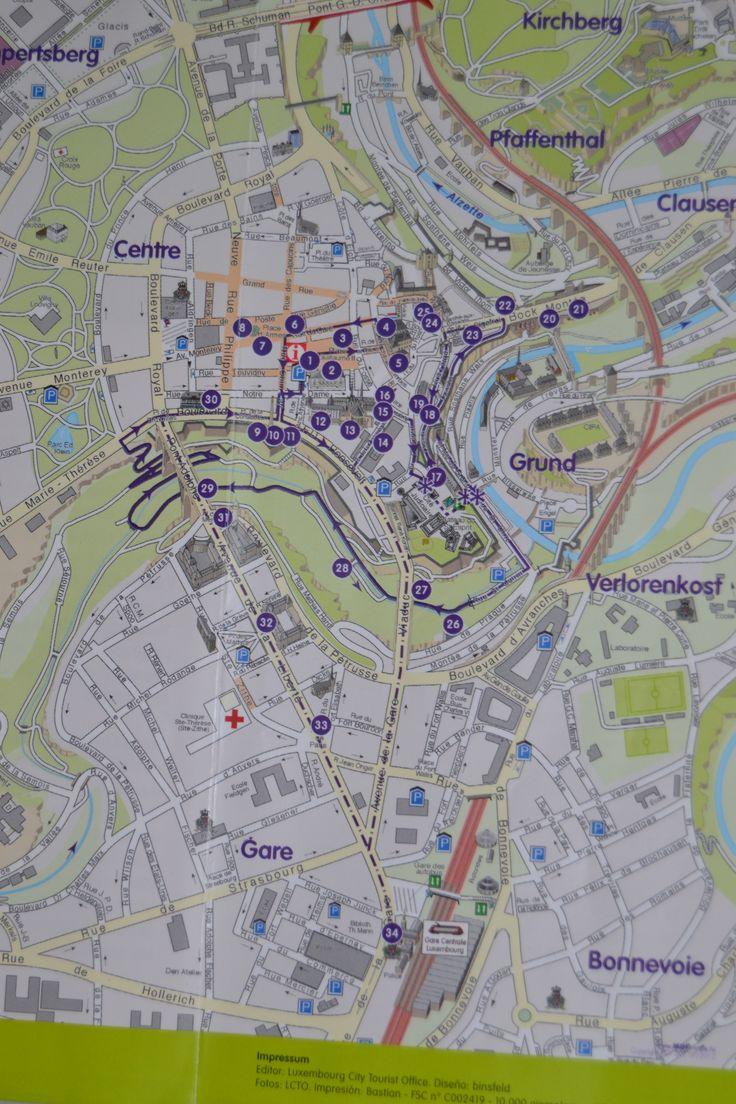Mapa de Luxemburgo