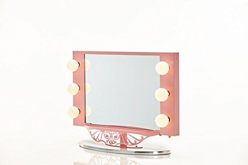 Vanity Girl Hollywood Starlet Lighted Vanity Mirror - This vanity mirror is perfect for your fashionista or inspiringyourfuturemakeup artist! Whether you are redoing a room or just indulging your daughter this mirror is the perfect gift for your teenager! Cute, classy and functional, this premium lighted vanity mirror is perfect.